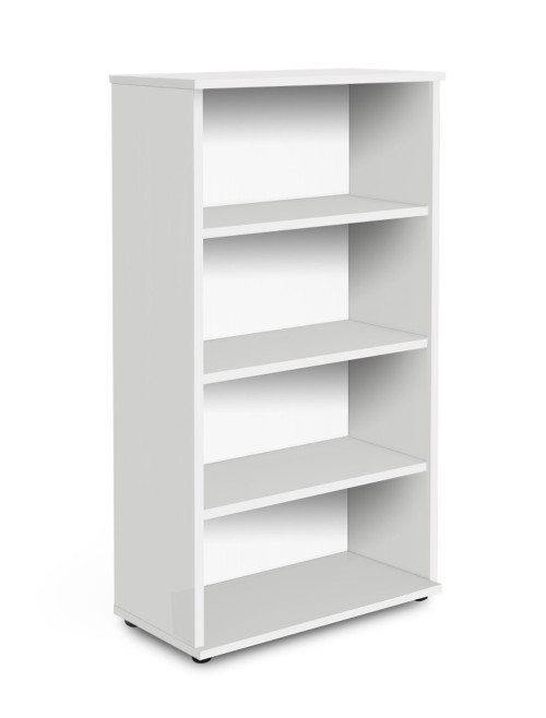 White Office Bookcase 1600mm High Aspire Bookcase ET/BC/1600/WH