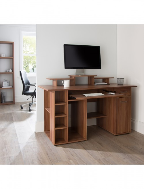 Home Office Desk Walnut San Diego AW12004WAL by Alphason