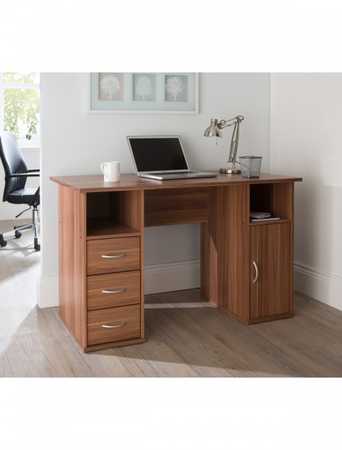 Home Office Desk Maryland Walnut AW12010WAL by Alphason