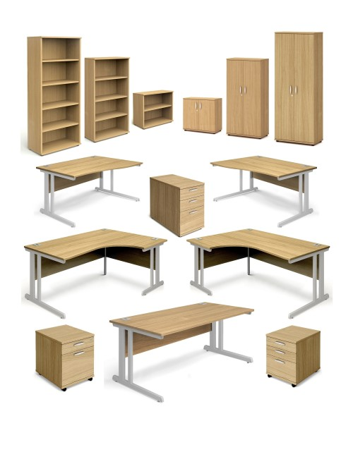 Oak Office Desks