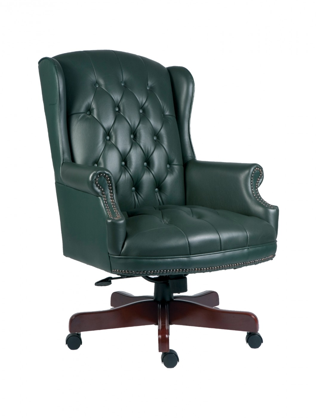 Ordinaire Chairman Traditional Executive Chair B800 In Green   Enlarged View