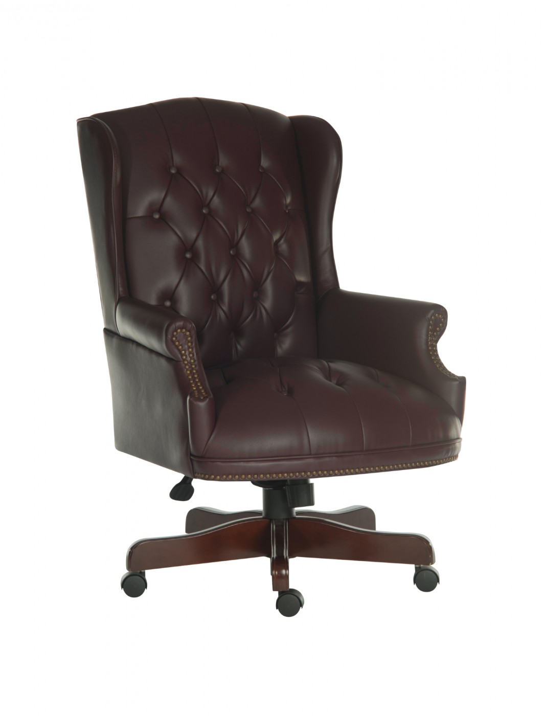 Genial Chairman Traditional Executive Chair B800 In Burgundy   Enlarged View