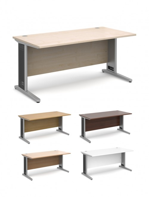 office desk shelving. Interesting Shelving Office Desks  Largo 1600mm Wide Straight Desk L16 Inside Shelving S