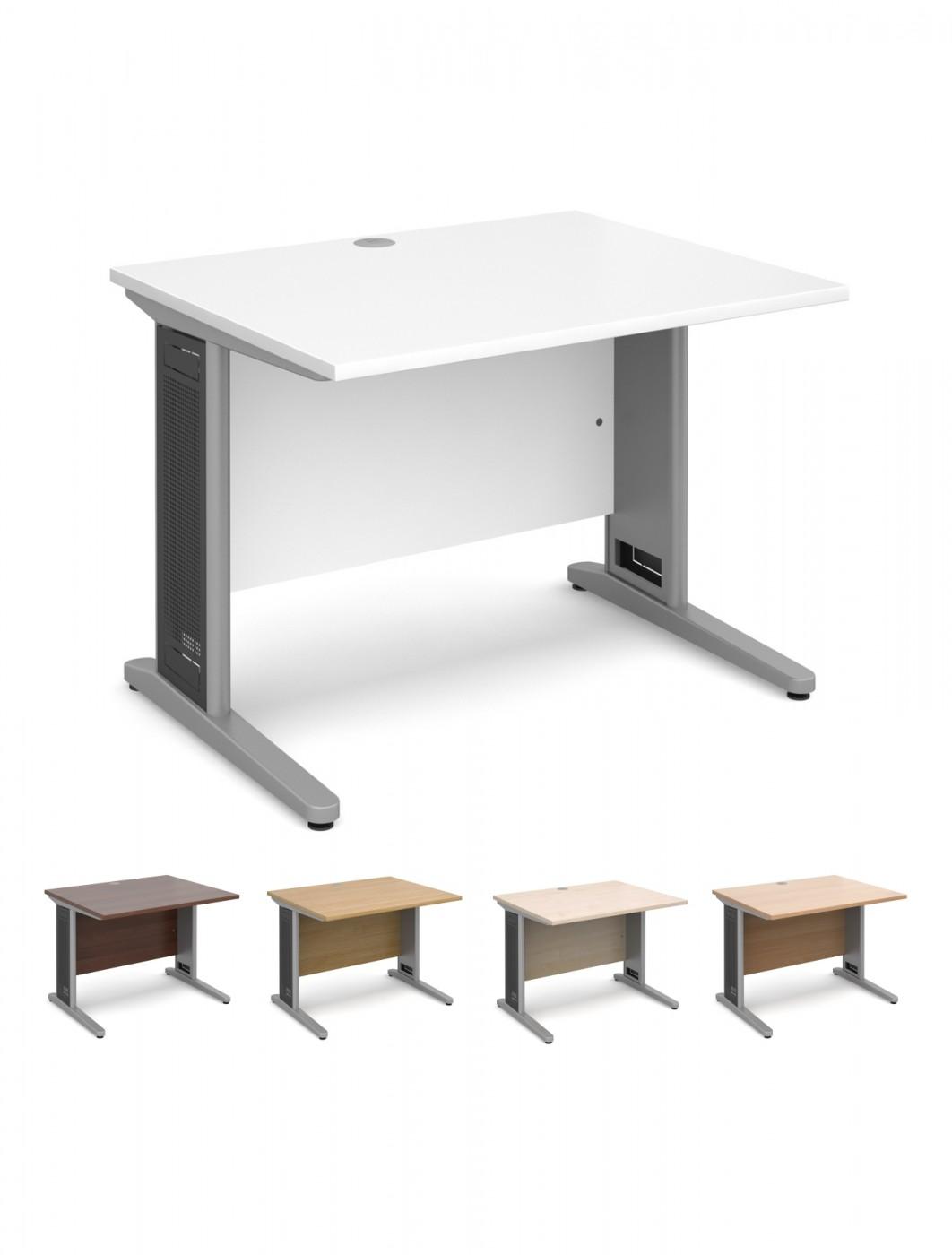 Office Desks   Largo 1000mm Wide Straight Office Desk L10   Enlarged View