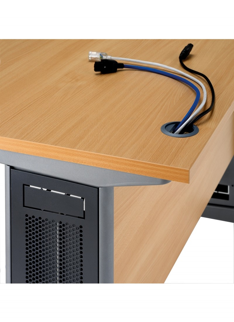 office desk cable management. Interesting Desk Office Desks  Largo 1000mm Wide Straight Desk L10 Enlarged View Intended Cable Management A