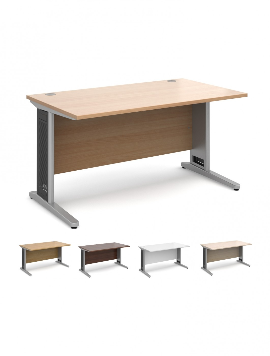 Beau Office Desks   Largo 1400mm Wide Straight Office Desk L14   Enlarged View