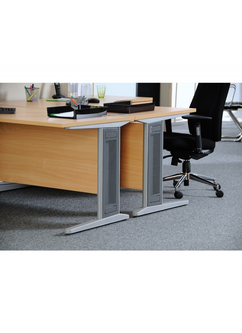 Office Desks   Largo 1000mm Wide Straight Office Desk L10   Enlarged View