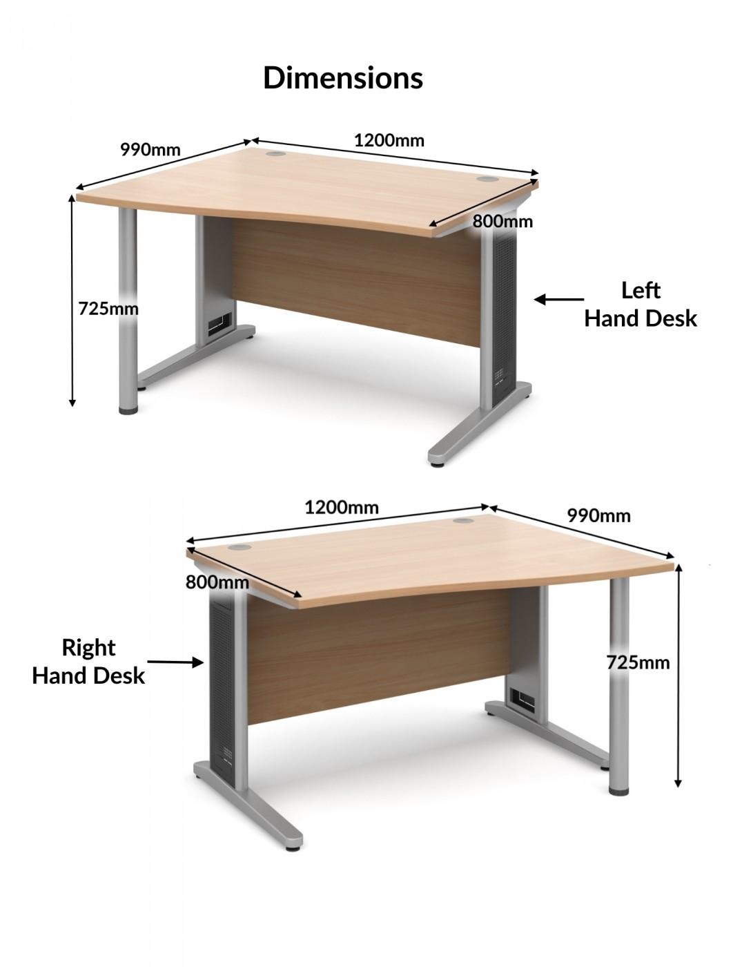 largo 1200mm wide wave desk lwl12 lwr12 121 office furniture