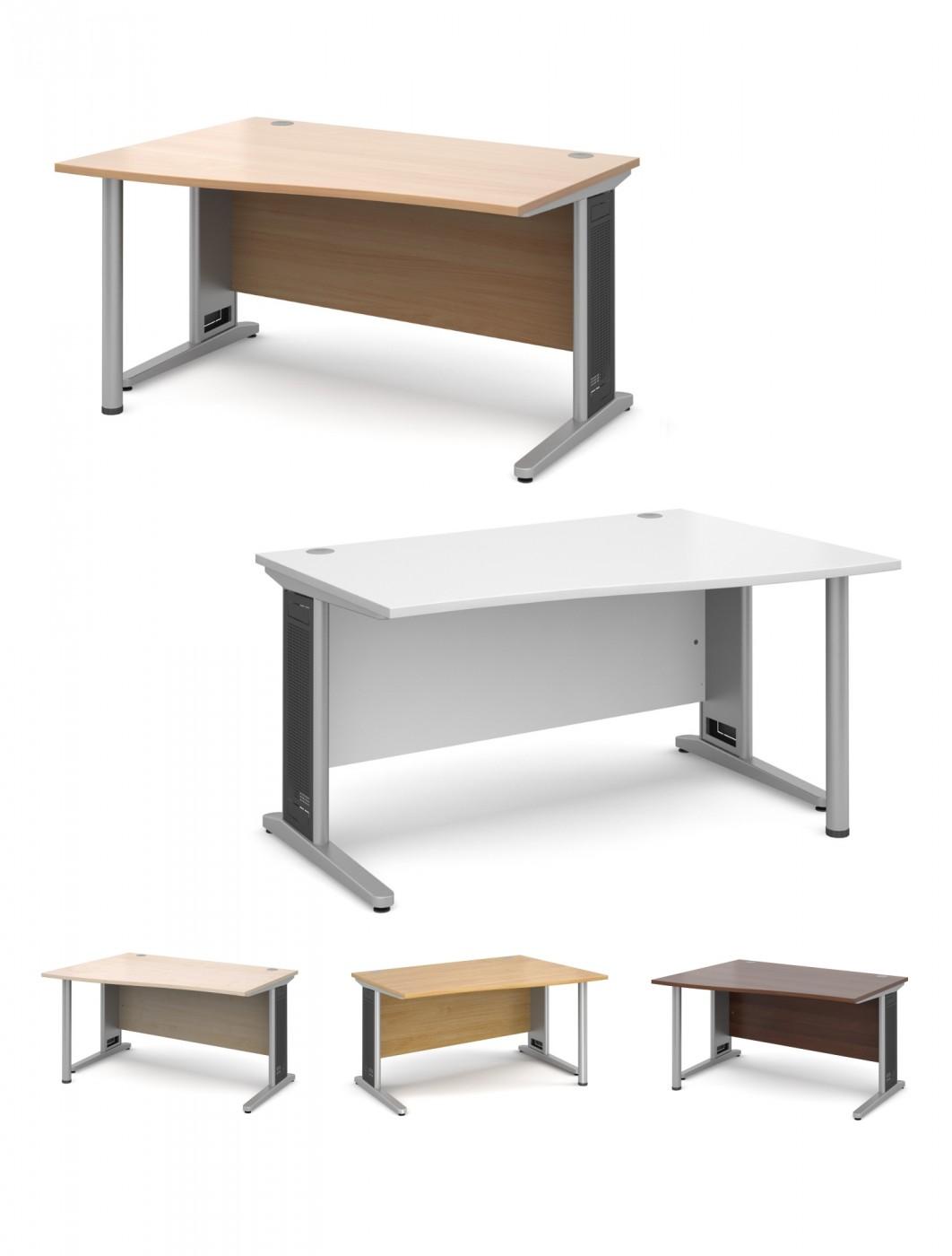 Office Desks   Largo 1400mm Wide Wave Desk LWL14 LWR14   Enlarged View