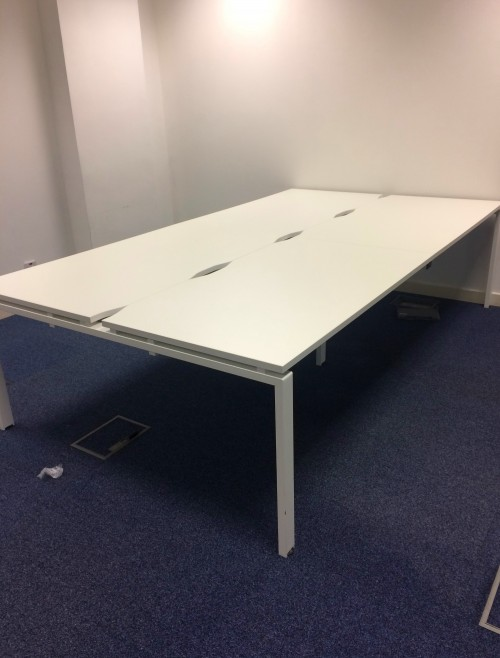 Bench Office Desks Back To Back - Used in Showroom Condition