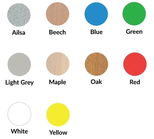 Metalliform Table Colours