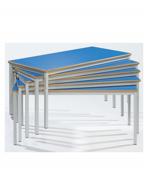 Classroom Tables - 1100x550mm Rectangular Stacking Tables SQSS-115-MD - Fully Welded