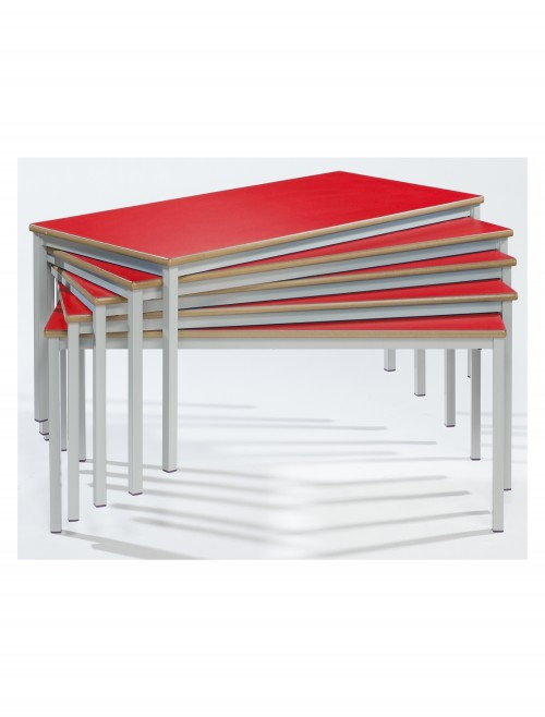 Classroom Tables - 1200x600mm Rectangular Stacking Tables SQSS-126-MD - Fully Welded