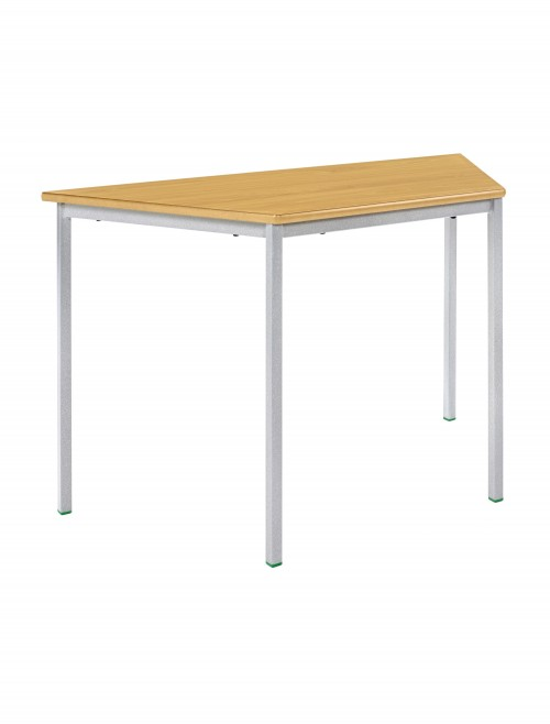Classroom Tables - 1200x600mm Trapezoidal Tables SQSS-12LE-MD - Fully Welded