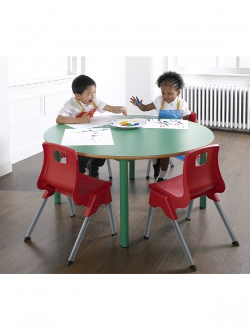 Premium Nursery Tables - 1100mm Circular Nursery Tables NURS-11C-MD