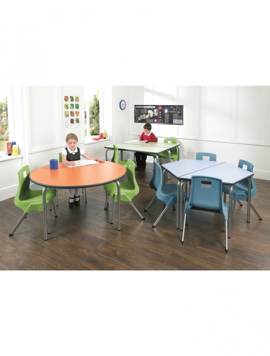 Classroom Tables - 600x600mm Square Equation Tables EQUPR-66-PS
