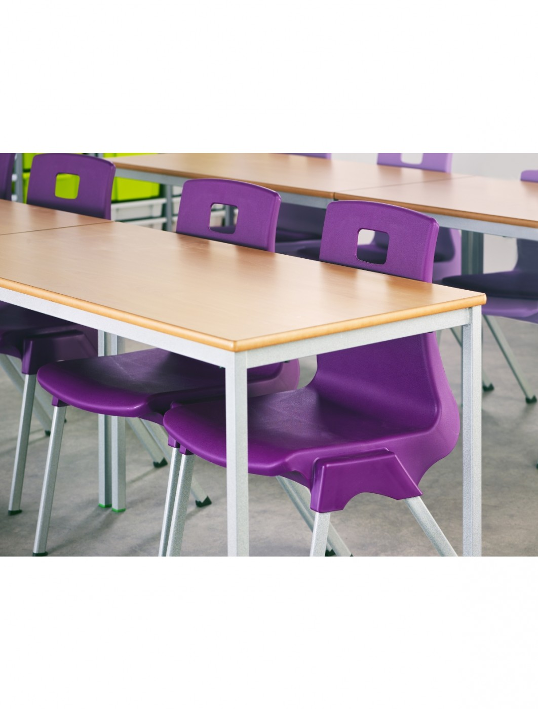 Classroom Tables - 1500x750mm Rectangular Stacking Tables SQSS-157-MD - Fully Welded
