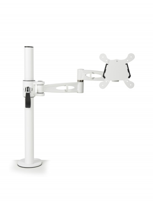 Dams Single Monitor Arm - White DSMARM-WH