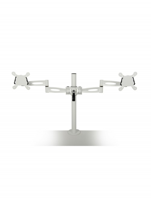 Dams Twin Monitor Arm - White DDMARM-WH