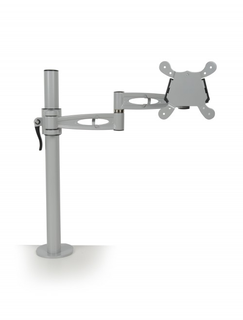 Dams Single Monitor Arm - Silver DSMARM-S