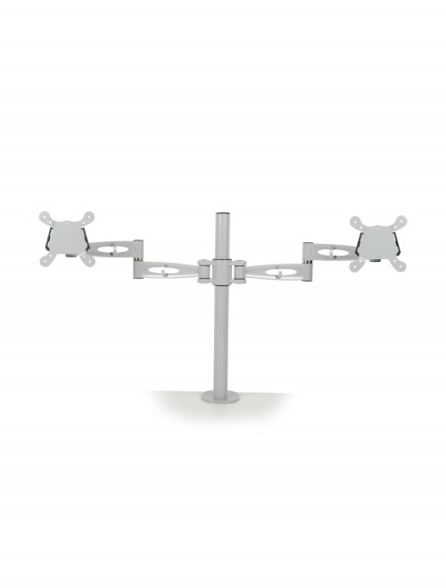 Dams Twin Monitor Arm - Silver DDMARM-S
