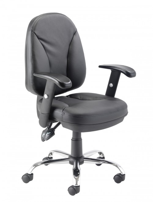 Office Chairs - TC Puma Black Office Chair CH1003