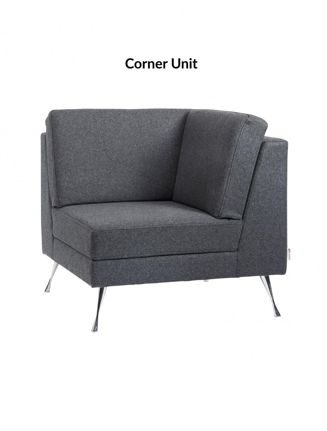 Reception Seating   Dams Lyric Modular Reception Corner Sofa Set LYRSET    Enlarged View