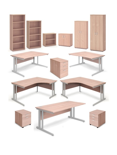 Aspire Beech Office Desks