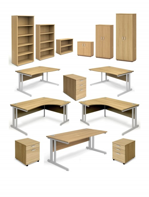 Aspire Oak Office Desks