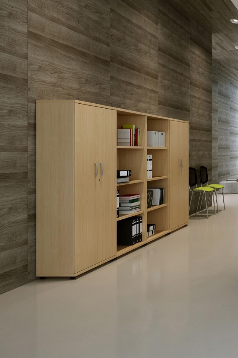 cupboard office. Oak Office Cupboard 1600mm High Aspire ET/CB/1600/OK - Enlarged E