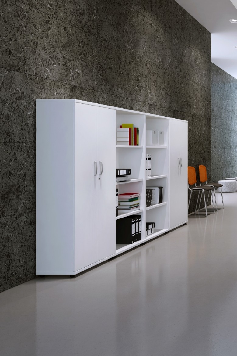 White Office Cupboard 2000mm High Aspire Cupboard ET/CB/2000/WH   Enlarged