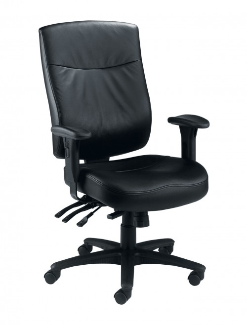 Office Chairs - TC Marathon Heavy Duty 24 Hour Leather Office Chair CH1105