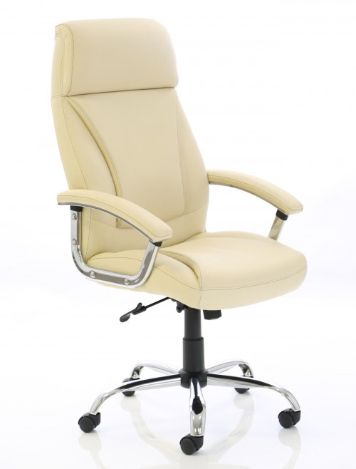 Office Chairs - Penza Executive Ivory Leather Office Chair EX000186