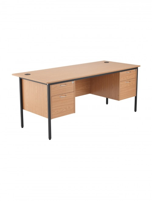 Oak Office Desk 1786x746mm TC Start18 STB17RECDRW4OK