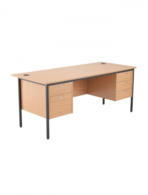 Oak Office Desk 1786x746mm TC Start18 STB17RECDRW5OK