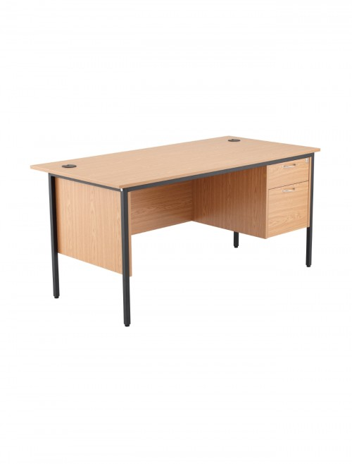 Oak Office Desk 1532x746mm TC Start18 STB15RECDRW2OK