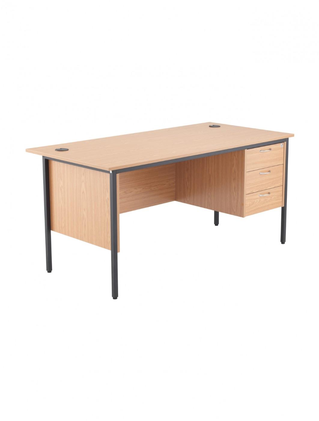 oak office table. Brilliant Office Oak Office Desk 1532x746mm TC Start18 STB15RECDRW3OK  Enlarged View Inside Table