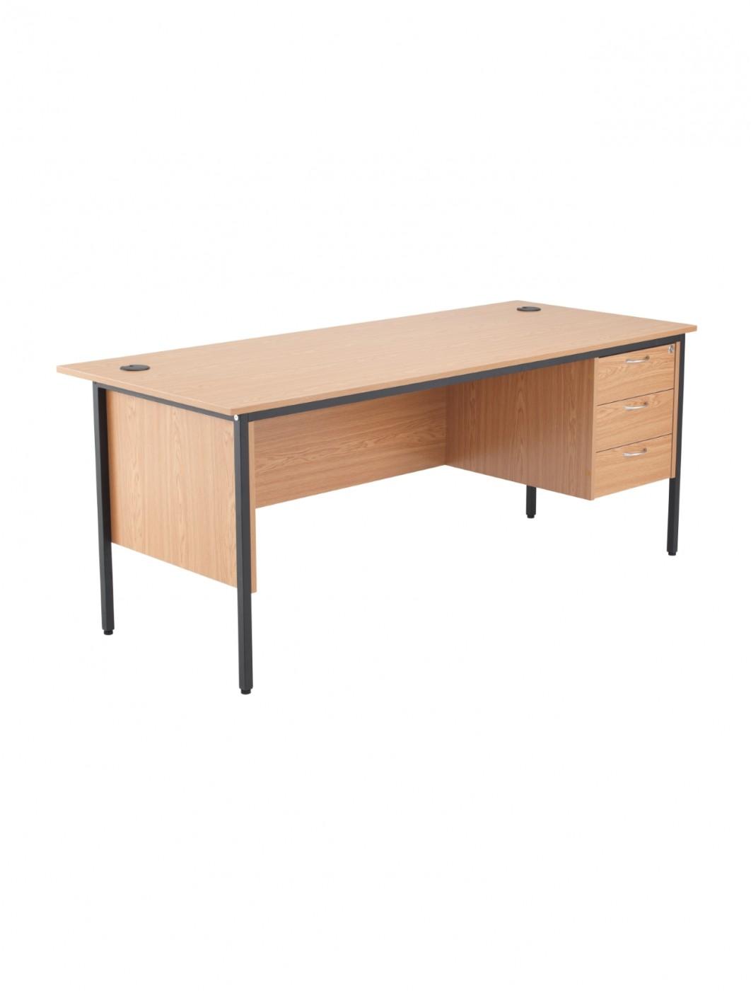 Oak office desk 1786x746mm tc start 18 desk stb17recdrw3ok 121 office furniture - Oak office desk ...