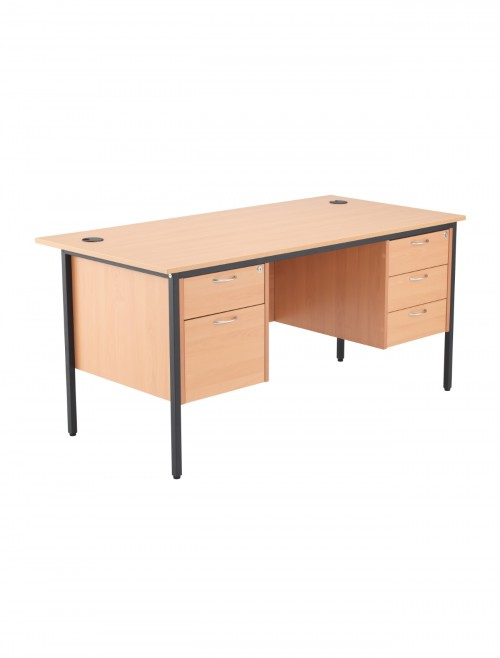 Beech Office Desk 1532x746mm TC Start18 STB15RECDRW5BE