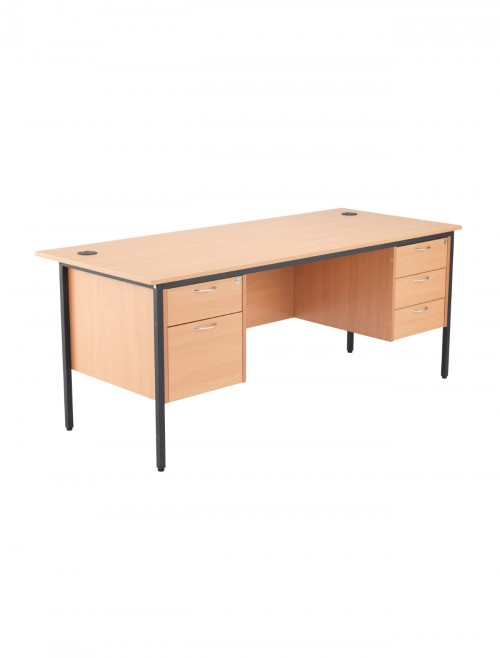 Beech Office Desk 1786x746mm TC Start18 STB17RECDRW5BE