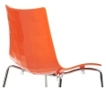 Gecko High Dining Chair in White and Orange