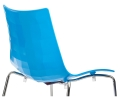 Gecko High Dining Chair in White and Blue