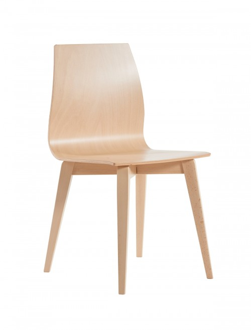 Social Seating - Dams Drop Wooden Dining Chair DROP - Beech Chair