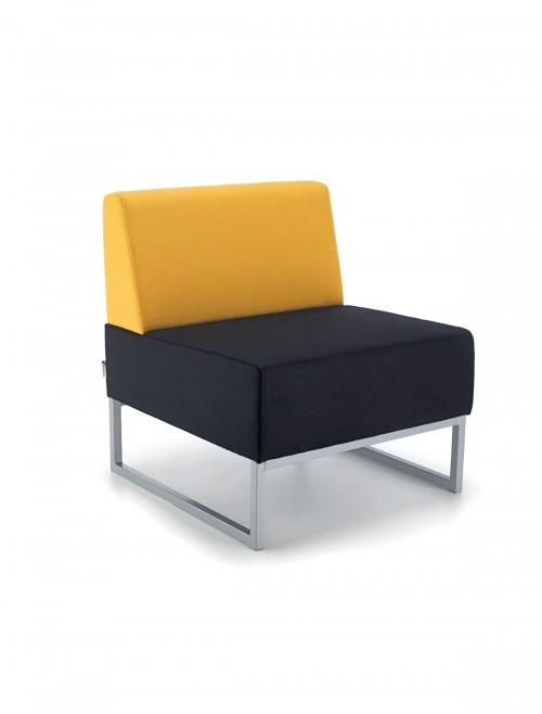 Modular Soft Seating - Dams Nera Single Bench with Back NERA-S-B