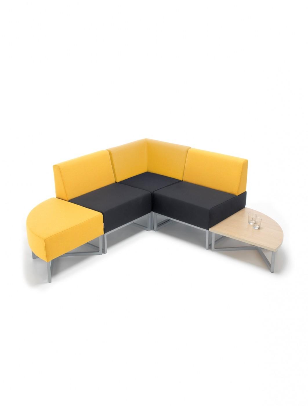 Social Seating - Dams Nera Modular Soft Seating Corner Unit NERA-Q -  enlarged view