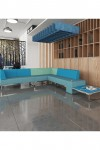 Modular Soft Seating - Dams Nera Double Bench with Left Hand Back and Arm NERA-D-BLA - enlarged view