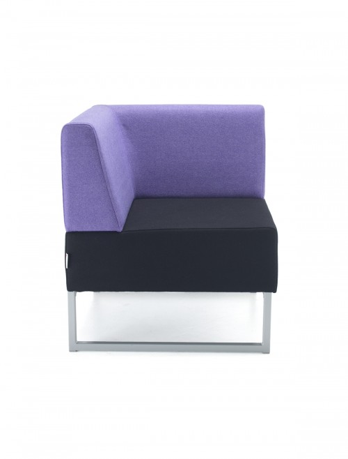 Modular Soft Seating - Dams Nera Single Bench with Back and Left Arm NERA-S-BLA