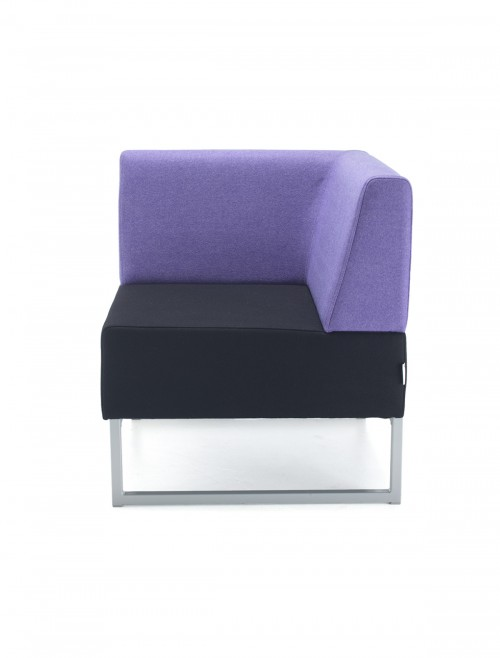 Modular Soft Seating - Dams Nera Single Bench with Back and Right Arm NERA-S-BRA