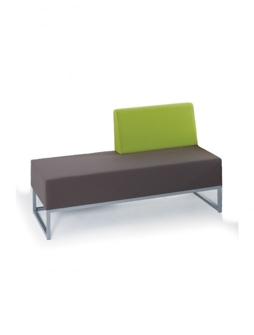 Modular Soft Seating - Dams Nera Double Bench with Left Hand Back NERA-D-LB