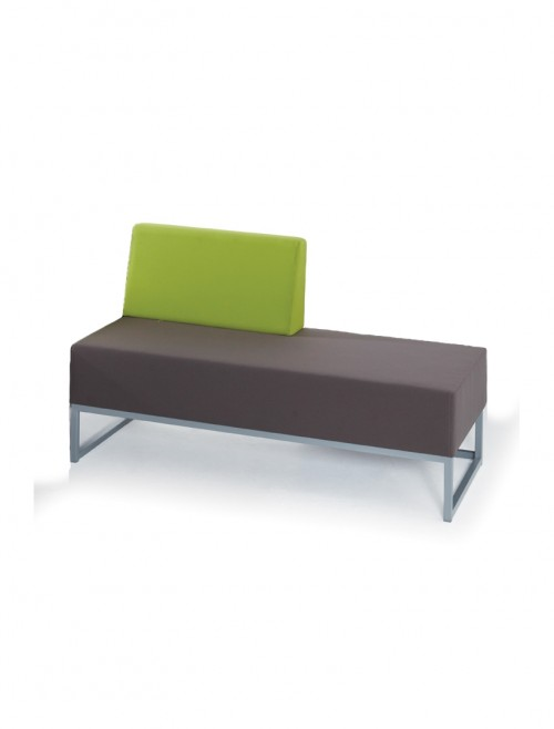 Modular Soft Seating - Dams Nera Double Bench with Right Hand Back NERA-D-RB